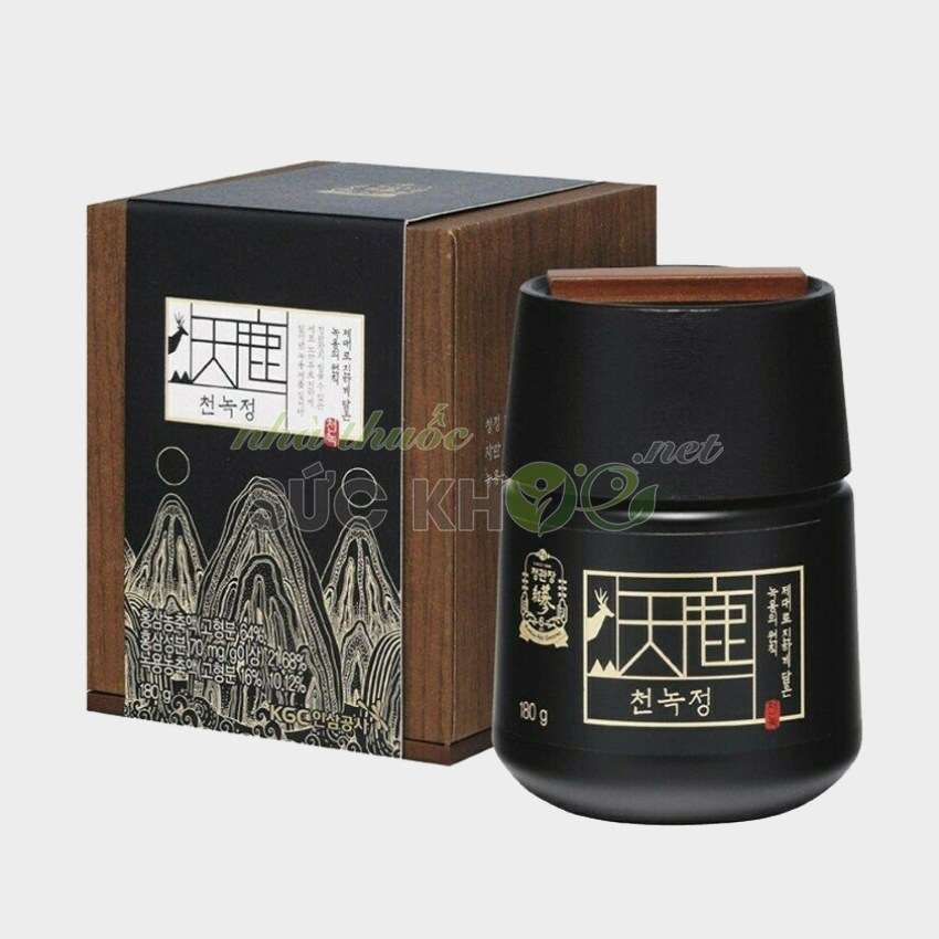 Hình ảnh chi tiết hộp Cao hồng sâm nhung hươu Cheong Kwan Jang CheonNok Extract 180g