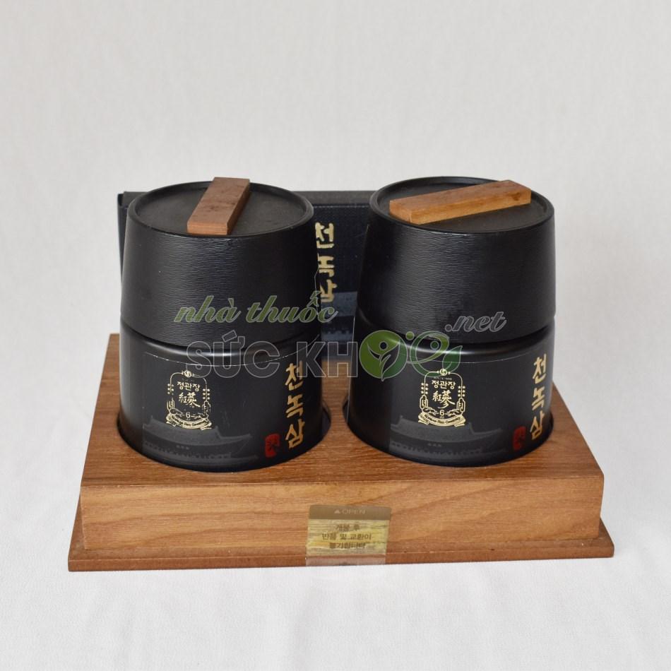 Hình ảnh chi tiết hộp Cao hồng sâm nhung hươu Cheong Kwan Jang CheonNok Extract 180gr x 2 lọ