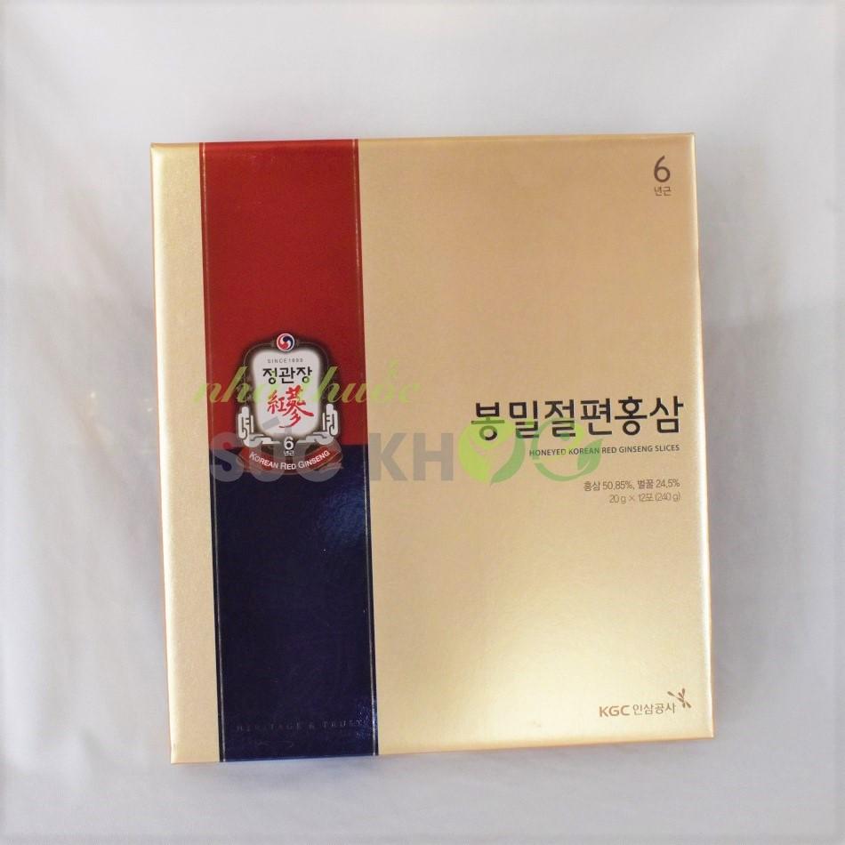 g sâm lát tẩm mật ong Cheong Kwan Jang 20g x 12 gói