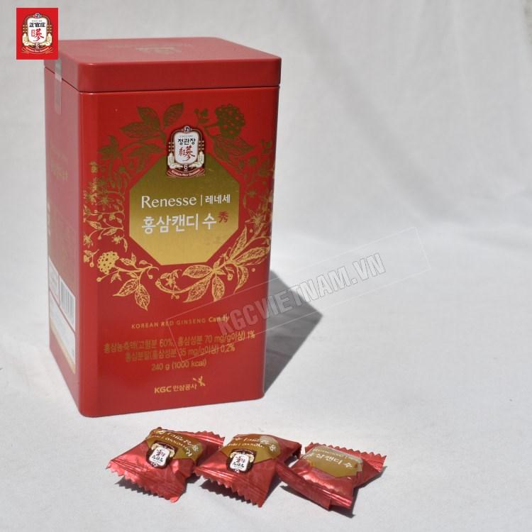 Kẹo hồng sâm Cheong Kwan Jang  Hàn Quốc hộp thiếc 240gr