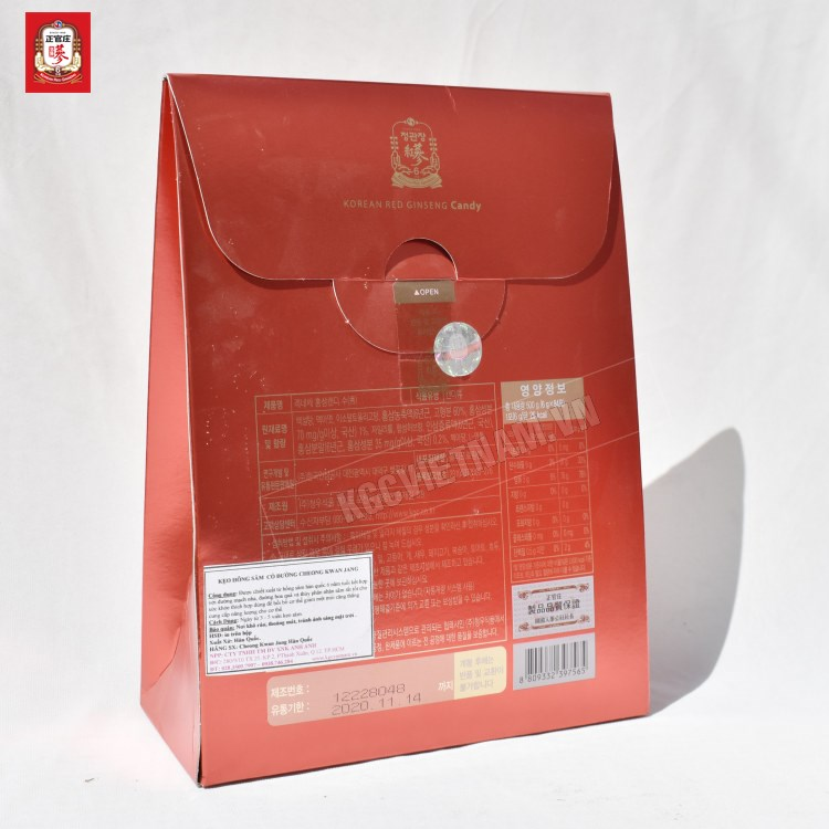 Kẹo hồng sâm Cheong Kwan Jang hộp giấy 500gr