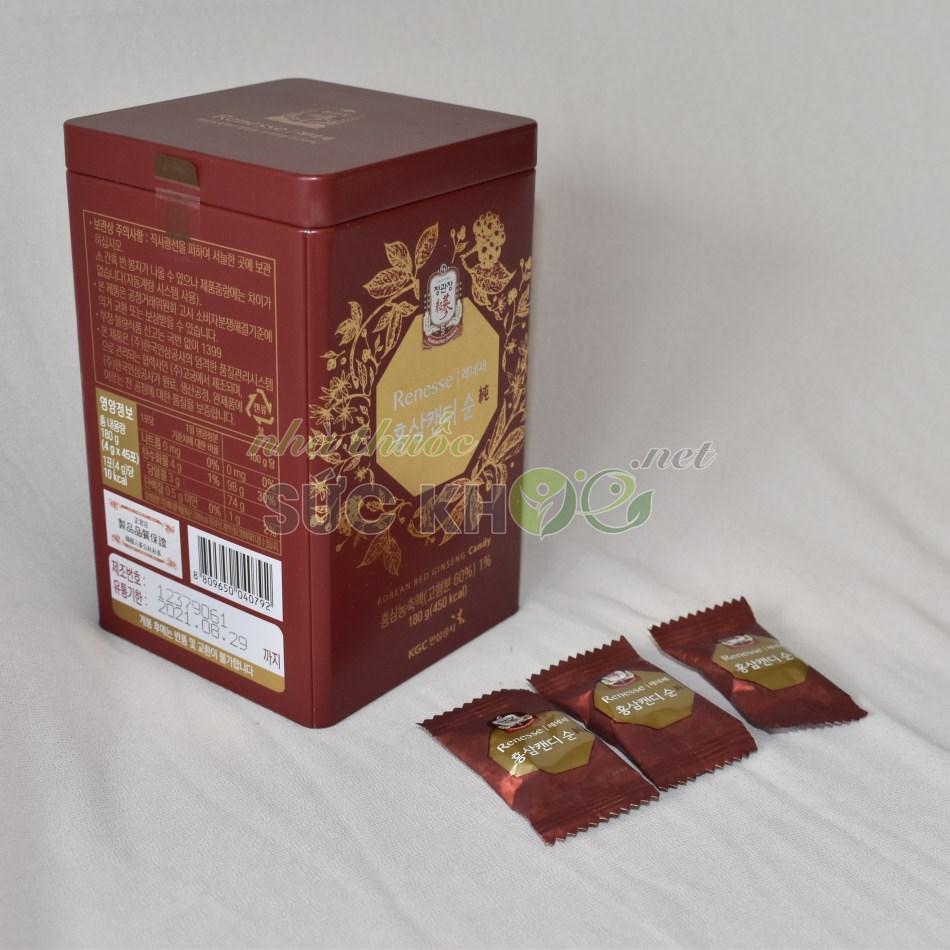 Kẹo hồng sâm không đường Cheong Kwan Jang hộp thiếc 180gr