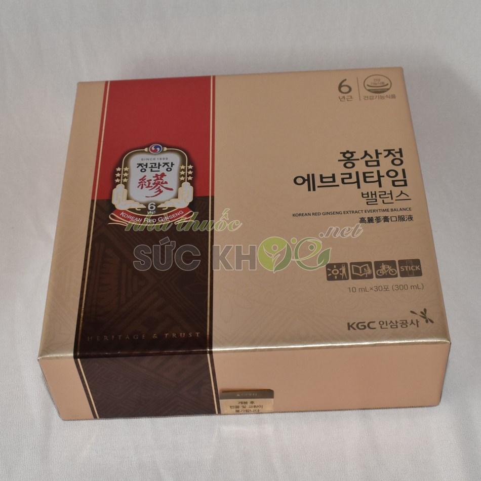 Hình ảnh mặt sau Nước hồng sâm Cheong Kwan Jang Everytime Balance 10ml x 30 gói