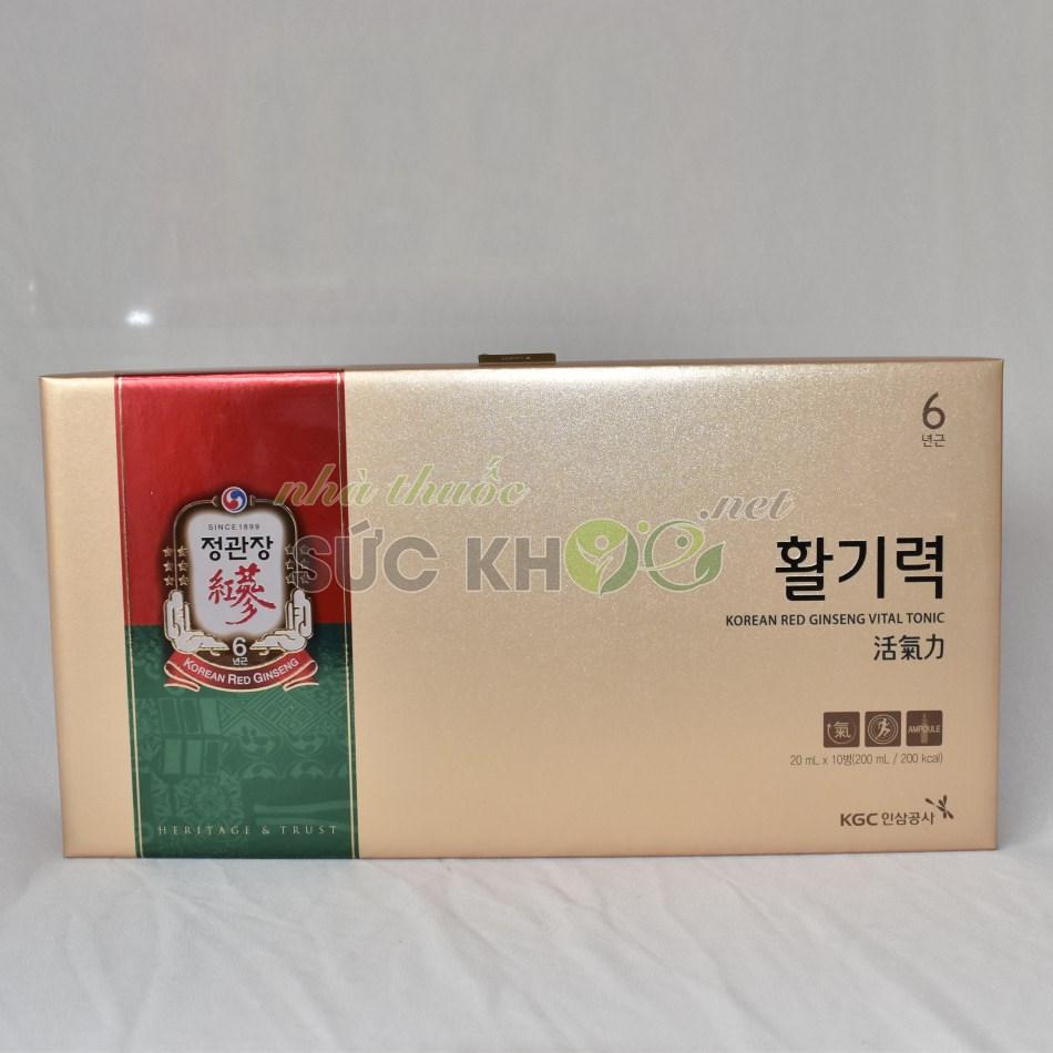 Hình ảnh hộp Nước hồng sâm Cheong Kwan Jang Vital Tonic 20ml x 10 ống