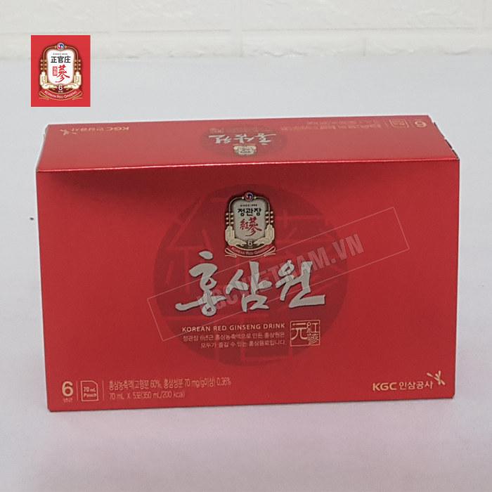 Hình ảnh chi tiết hộp nhỏ bên trong Nước hồng sâm Won Cheong Kwan Jang 70ml x 30 gói