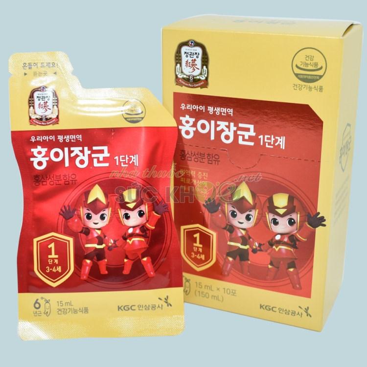 Nước hồng sâm trẻ em Cheong Kwan Jang số 1 15ml x 30 gói