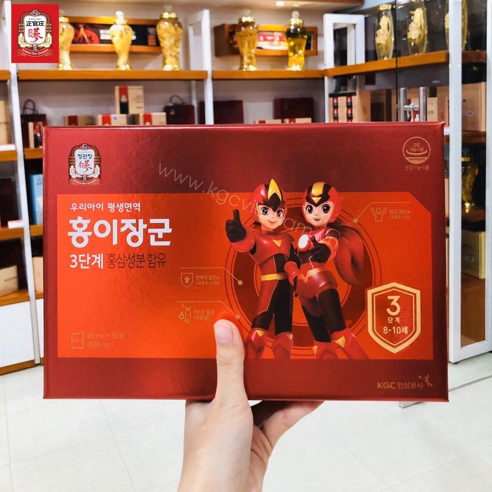 Nước hồng sâm trẻ em Cheong Kwan Jang số 3 20ml x 30 gói