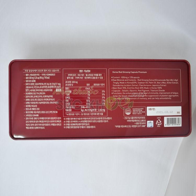 Hình ảnh hộp Viên hồng sâm linh chi đông trùng nhung hươu Deadong 830mg x 60 viên