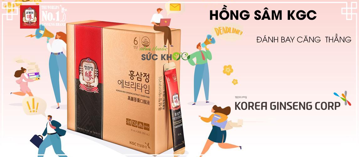 Banner hồng sâm Cheong Kwan Jang đánh tan căng thẳng