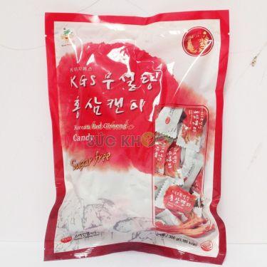 Kẹo hồng sâm không đường KGS 300gr